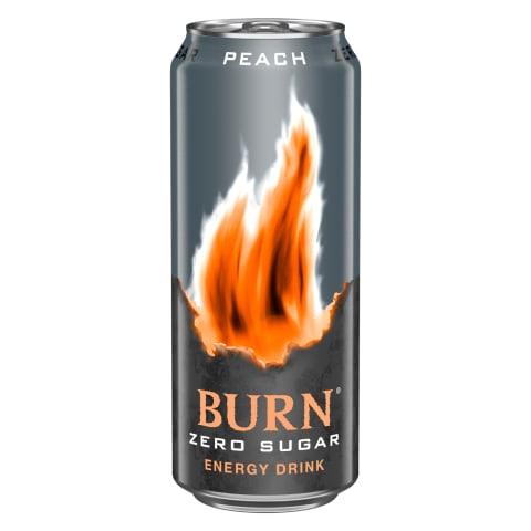 En.jook Burn Peach Zero magusainetega 0,33l