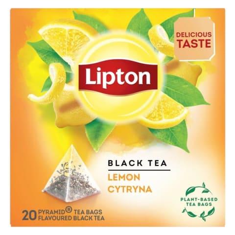Melnā tēja Lipton citronu 20x1,7g