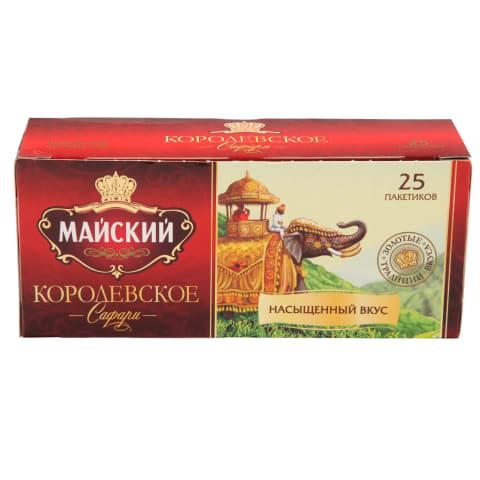 Melnā tēja Maisky Karaliskais safari 25x2g