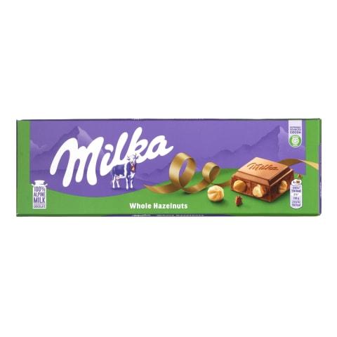 Piena šokolāde Milka ar riekstiem 250g