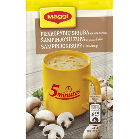 Pievagrybių sriuba su skrebučiais MAGGI, 14g