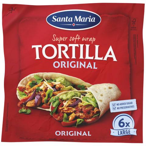 Tortiljas Santa Maria kviešu 371g