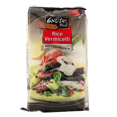 Rīsu nūdeles Exotic Food smalkās 250g