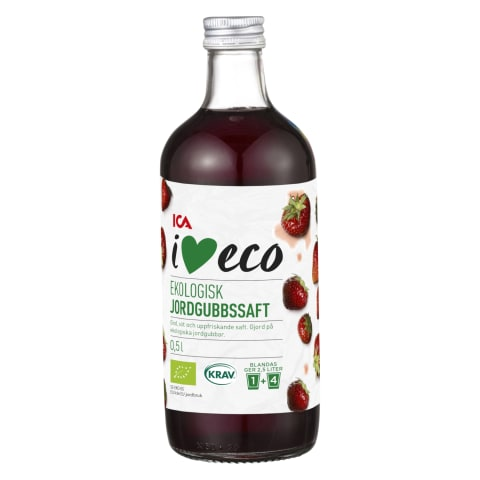 Sīrups I Love Eco zemeņu 500ml