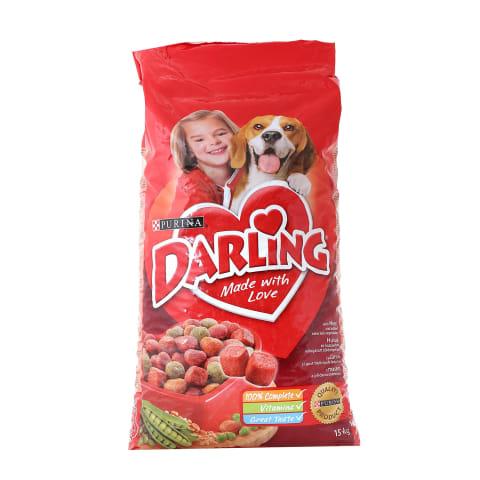 Sausas šunų ėdalas su mėsa DARLING, 15kg