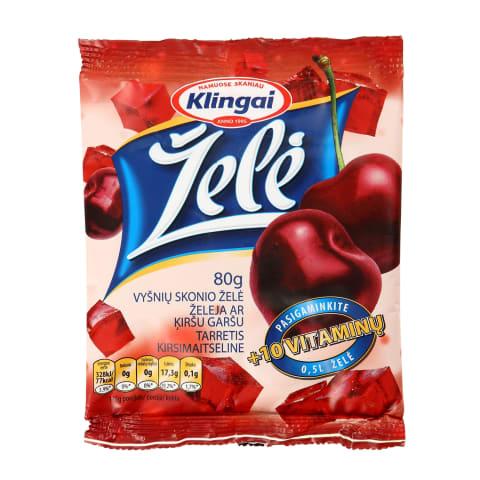 Vyšnių skonio želė KLINGAI, 80g