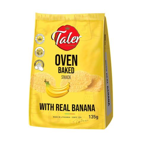 Traškučiai su bananais TALER, 135 g