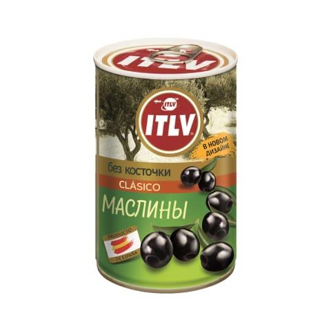 Melnās olīvas ITLV bez kauliņiem 314ml