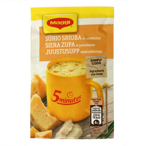 Sūrio sriuba su skrebučiais MAGGI, 19g