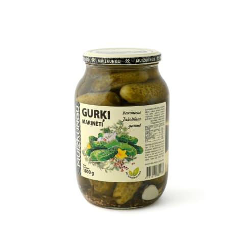 Marinēti gurķi Kok muižkungu 1kg/500g
