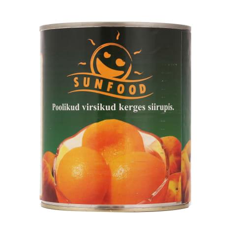 Virsikud poolikud Sunfood 820g
