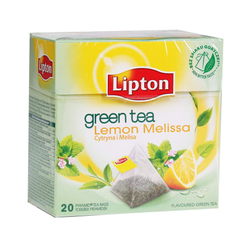 Zaļā tēja Lipton ar citronu melisu 20x1,8g