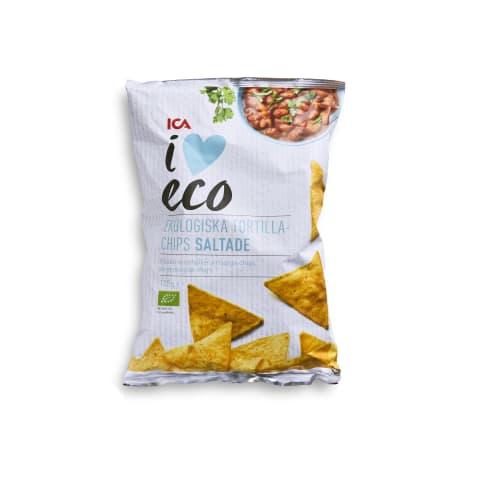 Tortillas čipsi I Love Eco sālīti 125g