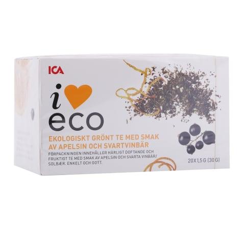 Zaļā tēja I Love Eco apels. un upeņu 20x1,5g