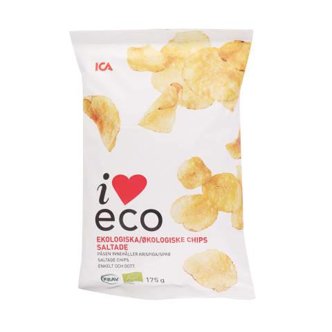 Čipsi I Love Eco sālīti 175g
