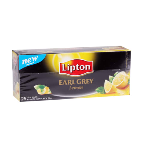Melnā tēja Lipton Earl Grey citronu 25x2g
