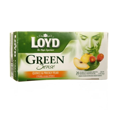 Zaļā tēja Loyd ar cidoniju opunciju 20x1,7g
