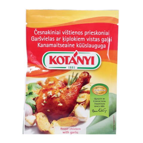 Garšvielas Kotanyi ar ķiplokiem vistai 30g