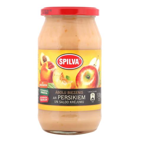Biezenis Spilva ābolu persiku ar krējumu 550g