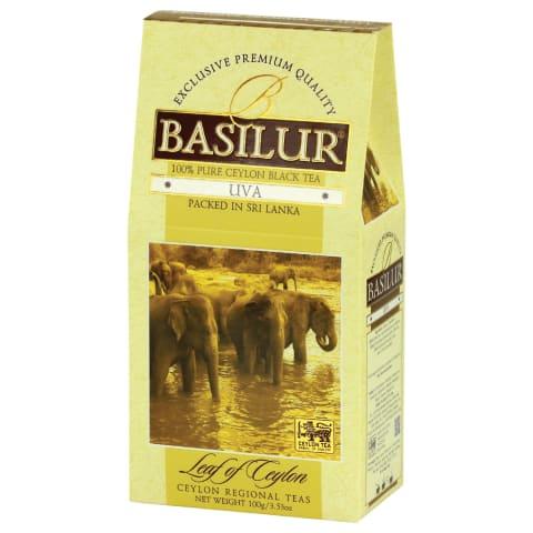 Juod. arbata BASILUR LEAF OF CEYLON UVA, 100g