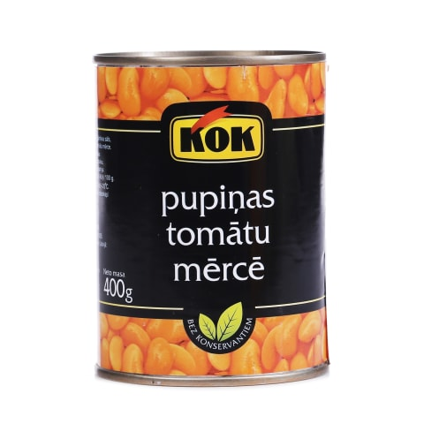Pupiņas Kok tomātu mērcē 400g/240g
