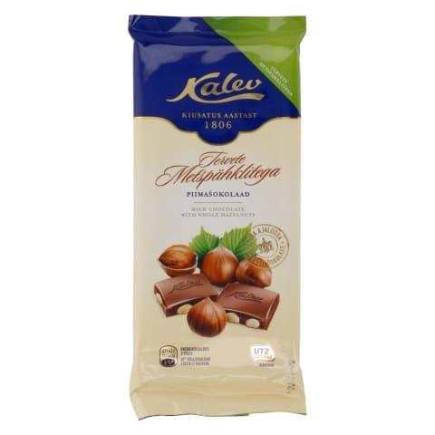 Piimašokolaad tervete pähklitega Kalev 100g