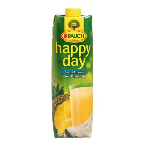 Kokosų ir ananasų sultys HAPPY DAY, 1l