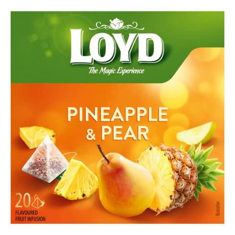 Augļu tēja Loyd ananasu bumbieru 20x2g