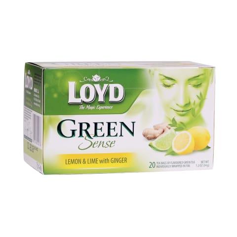 Zaļā tēja Loyd citrona un laima 20x1,7g