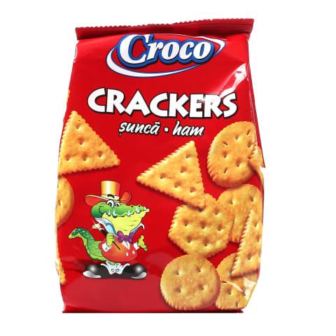 Krekeri Croco ar šķiņķa garšu 100g