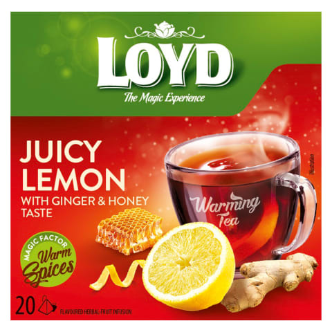 Žolelių arbata LOYD WARMING LEMON, 20 pak.