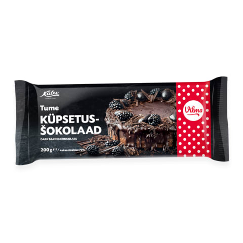 Küpsetusšokolaad tume 70% Kalev 200g