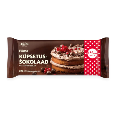 Küpsetusšokolaad piima Kalev 200g