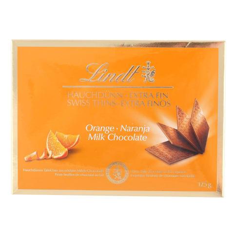Šokolāde Lindt Thins ar apelsīniem 125g