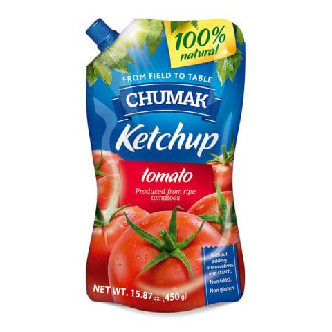 Kečups Chumak ar saldinātāju pasterizēts 450g