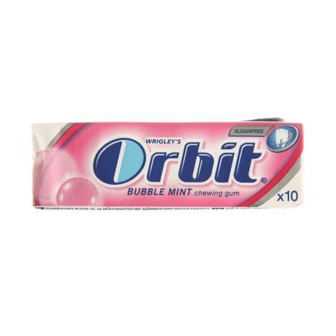 Vaisių ir mėtų sk. kramtomoji guma ORBIT, 14g