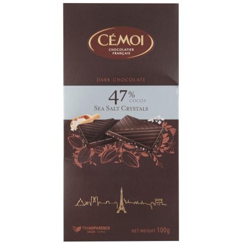 Rūgtā šokolāde ar sāls kristāliem 100g