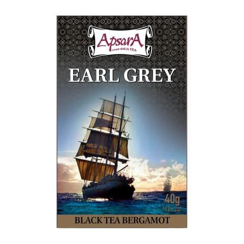 Melnā tēja Apsara Earl Grey 20x2g