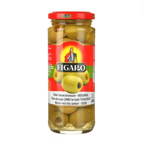 Zaļās olīvas Figaro bez kauliņiem 340g/160g