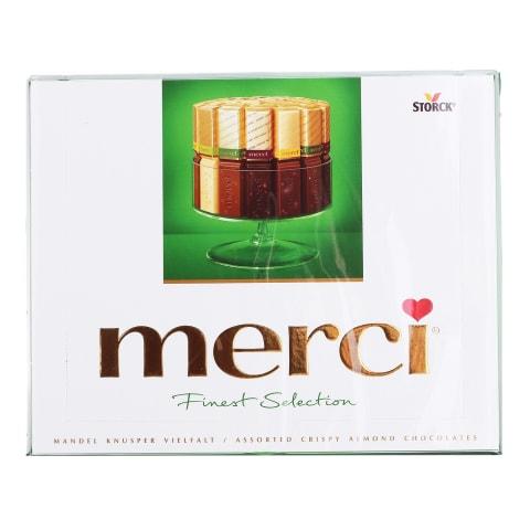 Šokolādes izlase Merci ar riekstiem 250g