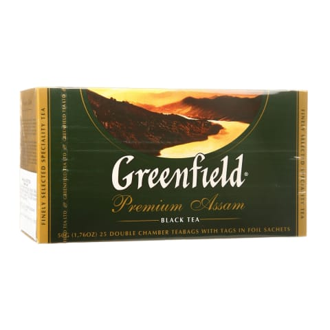 Juod. arbata GREENFIELD Premium Assam, 25pak.