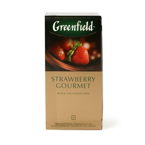 Melnā tēja Greenfield Strawberry 25x1,5g