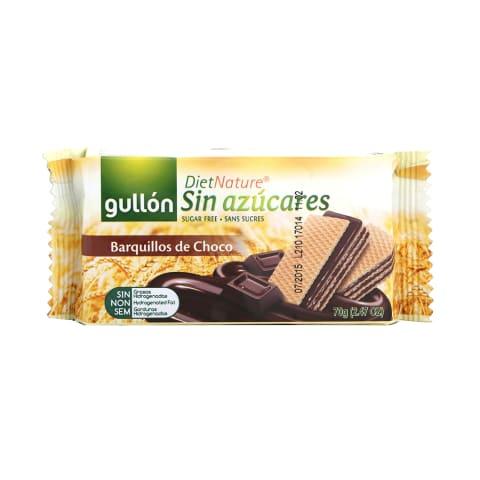 Vafeles Gullon ar šokolādi bez cukura 70g