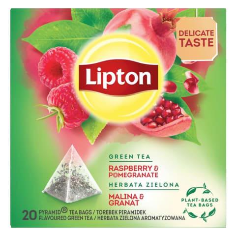 Zaļā tēja Lipton aveņu granātābolu 20x1,4g