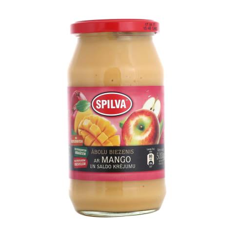 Biezenis Spilva ābolu mango ar krējumu 500g
