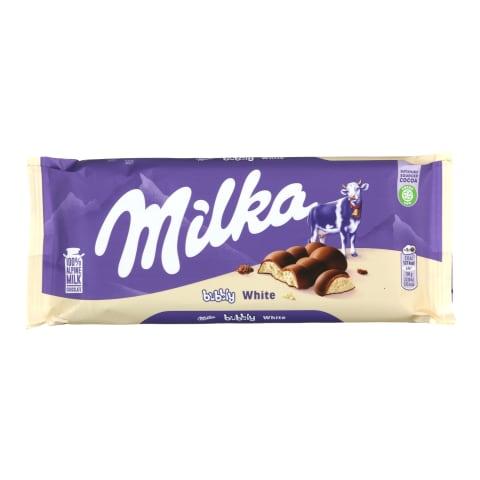Baltā šokolāde Milka Bubbly 95g