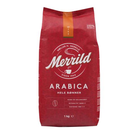 Kafijas pupiņas Merrild Arabica 1kg
