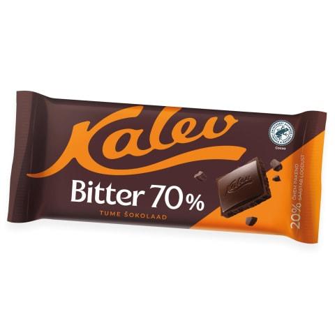 Tume šokolaad 70% Kalev Bitter 100g