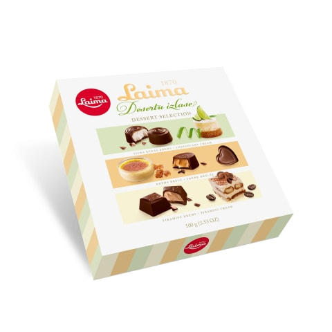 Šokolādes konfektes Laima desertu izlase 100g