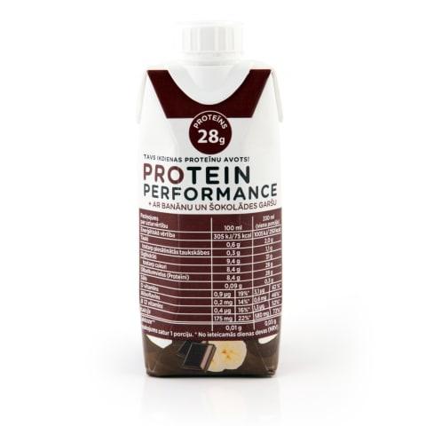 Dzēriens Protein Performance banānu 0,33l